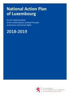 National Action Plan of Luxembourg for the implementation of the United Nations Guiding Principles on Business and Human Rights 2018-2019