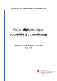 GRAND-DUCHE DE LUXEMBOURG, Annuaire du corps diplomatique accrédité à Luxembourg