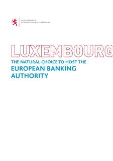 Luxembourg: The natural choice to host the European banking authority